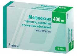 Мофлаксия, табл. п/о пленочной 400 мг №5