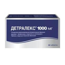Детралекс, табл. п/о пленочной 1000 мг №18