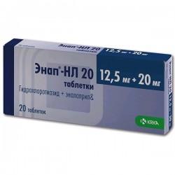 Энап-НЛ 20, табл. 12.5 мг+20 мг №20